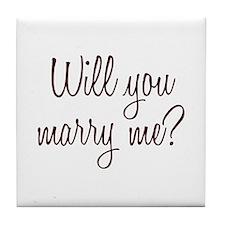 Marry Me Tile Coaster