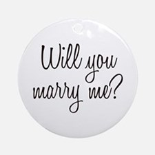 Marry Me Ornament (Round)