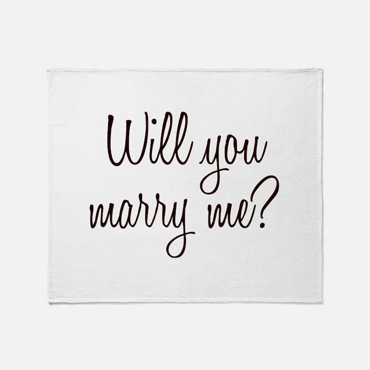 Marry Me Throw Blanket