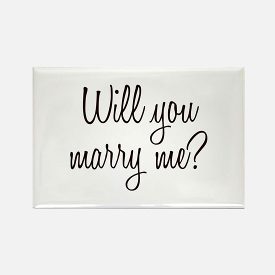 Marry Me Rectangle Magnet