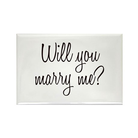 Marry Me Rectangle Magnet (100 pack)