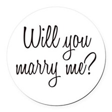 Marry Me Round Car Magnet