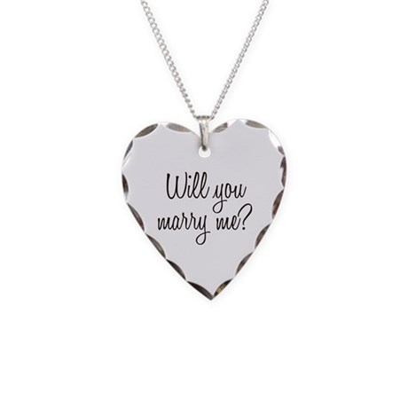 Marry Me Necklace Heart Charm