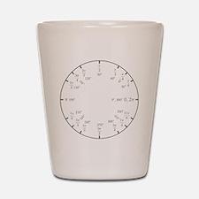 Trigonometry v2 (Rad/Deg) Shot Glass