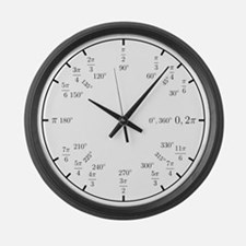 Trigonometry v2 (Rad/Deg) Large Wall Clock