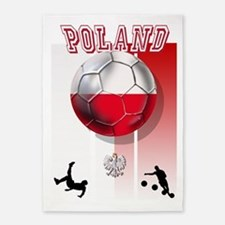 Poland Football Soccer 5'x7'Area Rug