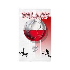Poland Football Soccer 3'x5' Area Rug