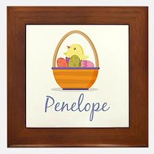 Easter Basket Penelope Framed Tile