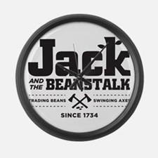 Jack & the Beanstalk Since 1734 Large Wall Clock
