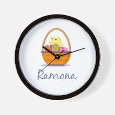 Easter Basket Ramona Wall Clock