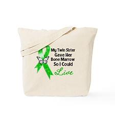 Twin Sister Gave Bone Marrow Tote Bag