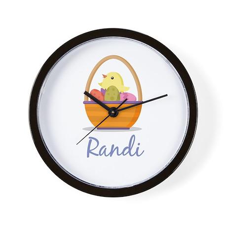 Easter Basket Randi Wall Clock