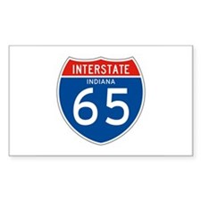 Interstate 65 - IN Rectangle Stickers