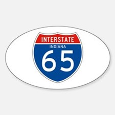 Interstate 65 - IN Oval Decal