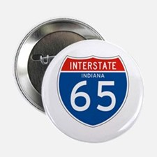 """Interstate 65 - IN 2.25"""" Button (10 pack)"""