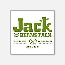 "Jack & the Beanstalk Since 1734 Square Sticker 3"""