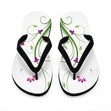 Floral Swirls Flip Flops