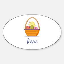 Easter Basket Rene Decal