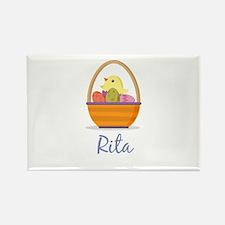 Easter Basket Rita Rectangle Magnet