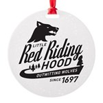 Little Red Riding Hood Since 1697 Round Ornament