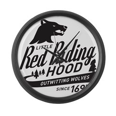 Little Red Riding Hood Since 1697 Large Wall Clock