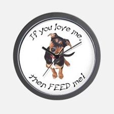 """""""If you love me, then feed me!"""" Wall Clock"""