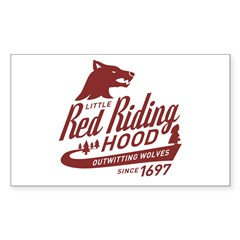 Little Red Riding Hood Since 1697 Decal