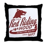 Little Red Riding Hood Since 1697 Throw Pillow