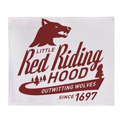 Little Red Riding Hood Since 1697 Throw Blanket