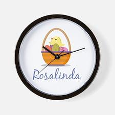 Easter Basket Rosalinda Wall Clock