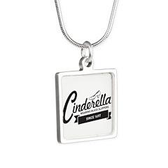 Cinderella Since 1697 Silver Square Necklace