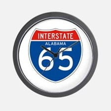 Interstate 65 - AL Wall Clock