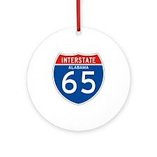 Interstate 65 - AL Ornament (Round)