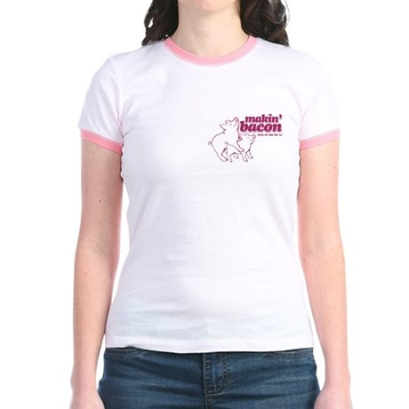 Year of The Pig 2007 Jr. Ringer T-Shirt