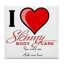 Skinny Body Care Tile Coaster
