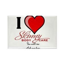 Skinny Body Care Rectangle Magnet