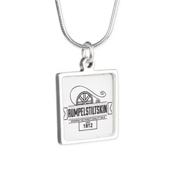 Rumpelstiltskin Since 1812 Silver Square Necklace