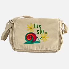 live slow snail Messenger Bag