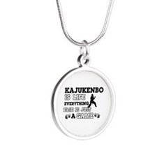 Kajukenbo is life Silver Round Necklace