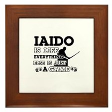 Iaido is life Framed Tile