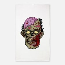 GREEN ZOMBIE HEAD WITH BRAINS--ROTTEN!! 3'x5' Area