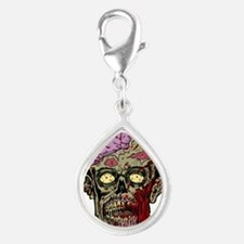 GREEN ZOMBIE HEAD WITH BRAINS--ROTTEN!! Charms