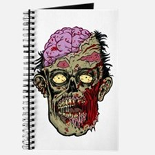 GREEN ZOMBIE HEAD WITH BRAINS--ROTTEN!! Journal