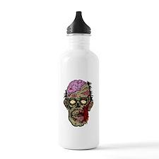GREEN ZOMBIE HEAD WITH BRAINS--ROTTEN!! Water Bott