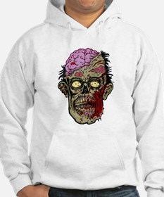 GREEN ZOMBIE HEAD WITH BRAINS--ROTTEN!! Hoodie