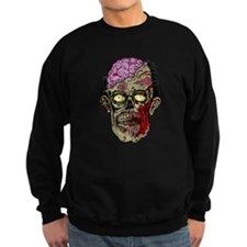 GREEN ZOMBIE HEAD WITH BRAINS--ROTTEN!! Jumper Sweater