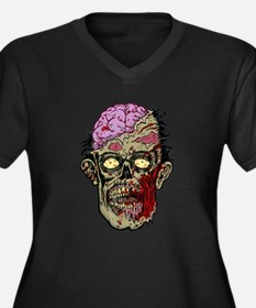 GREEN ZOMBIE HEAD WITH BRAINS--ROTTEN!! Plus Size