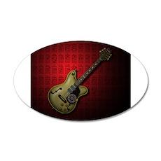 KuuMa Guitar 10 (R) 35x21 Oval Wall Decal