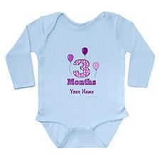 3 Months - Purple Polka Dot Body Suit