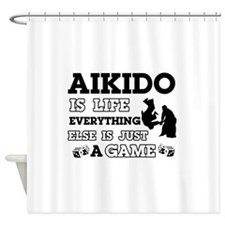 Aikido is life Shower Curtain